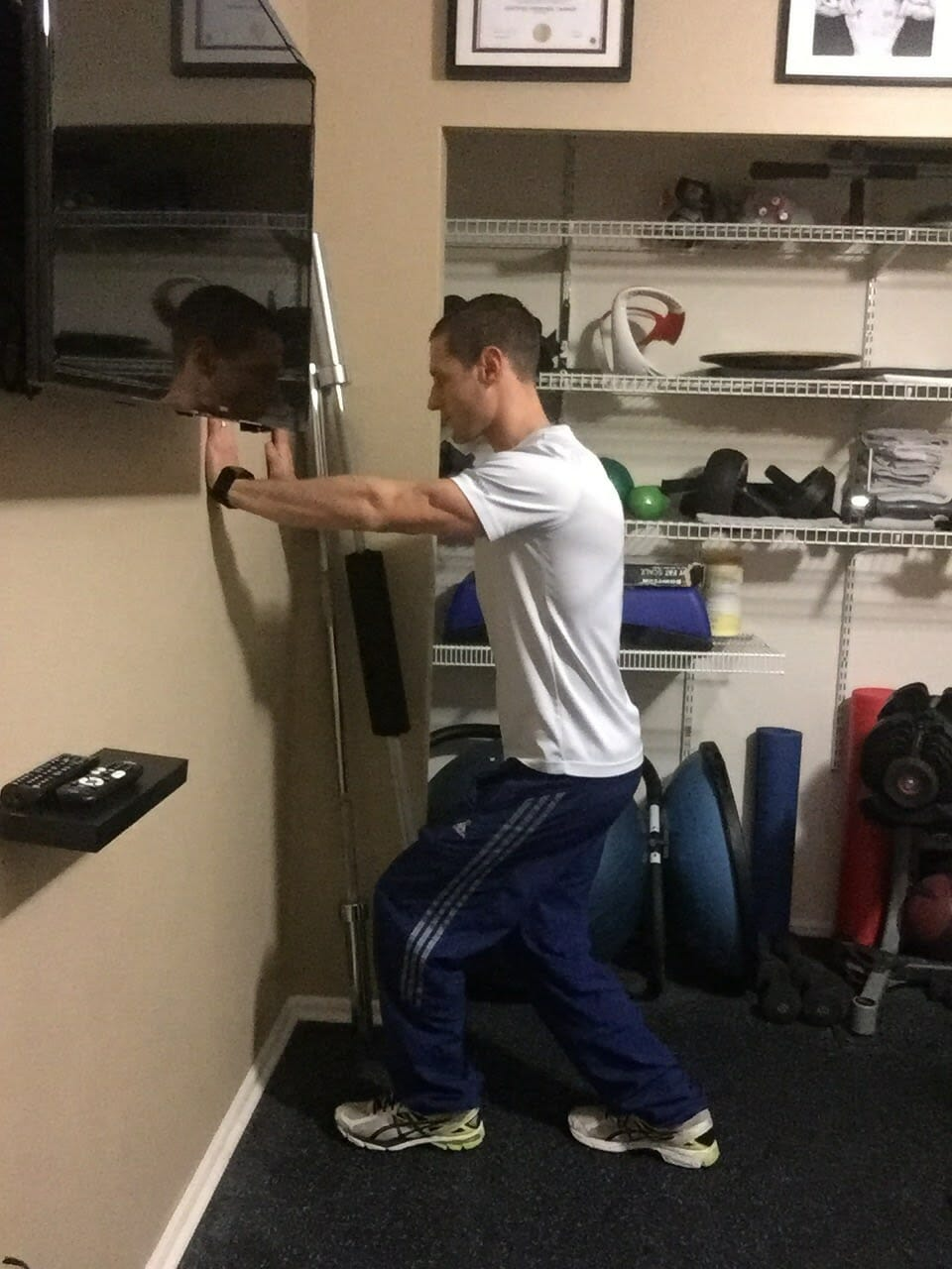 Wall Leaning Soleus And Achilles Stretch